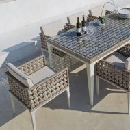 "Плетеная мебель ""HEART"" Dining Set 8 Sky Line Design"